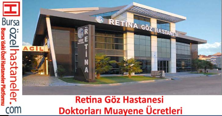Retina Göz Hastanesi Doktorları Muayene Ücretleri