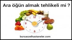 Beslenme Yapılırken Ara Öğün Almak Tehlikeli Mi